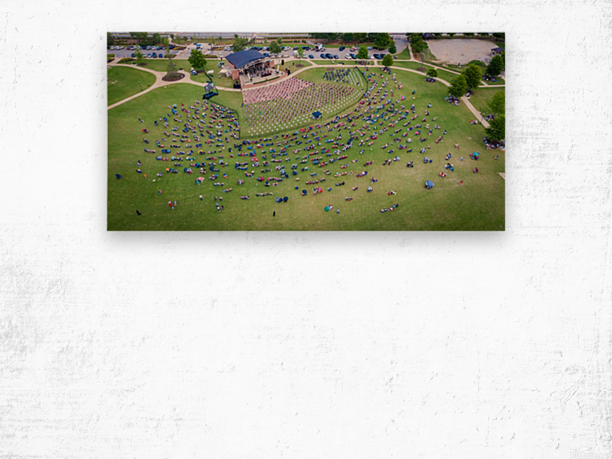 Lakeside High Class of 2020   Graduation Aerial View 0728 05 30 20 2 Wood print