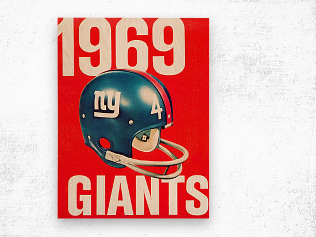 1969 new york giants football poster Wood print