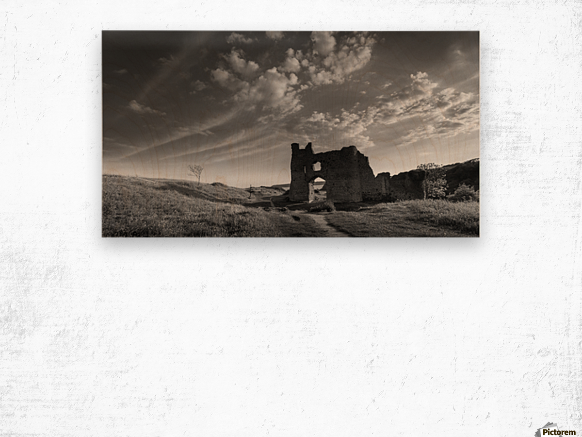 Pennard castle Gower Wood print