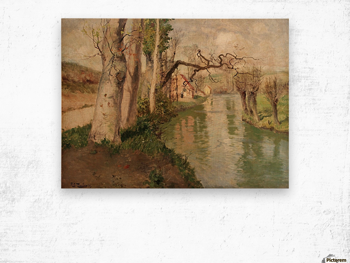 From Dieppe to Arques River Wood print
