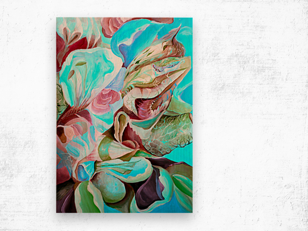 Realm of Tropical Exotic Nature Pattern Wood print