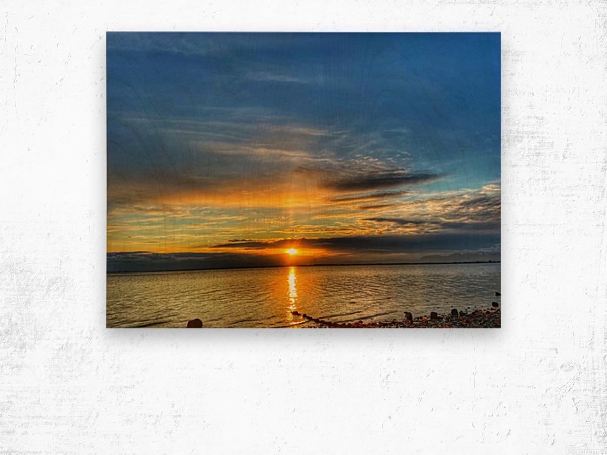Ocean Sunsets Impression sur bois