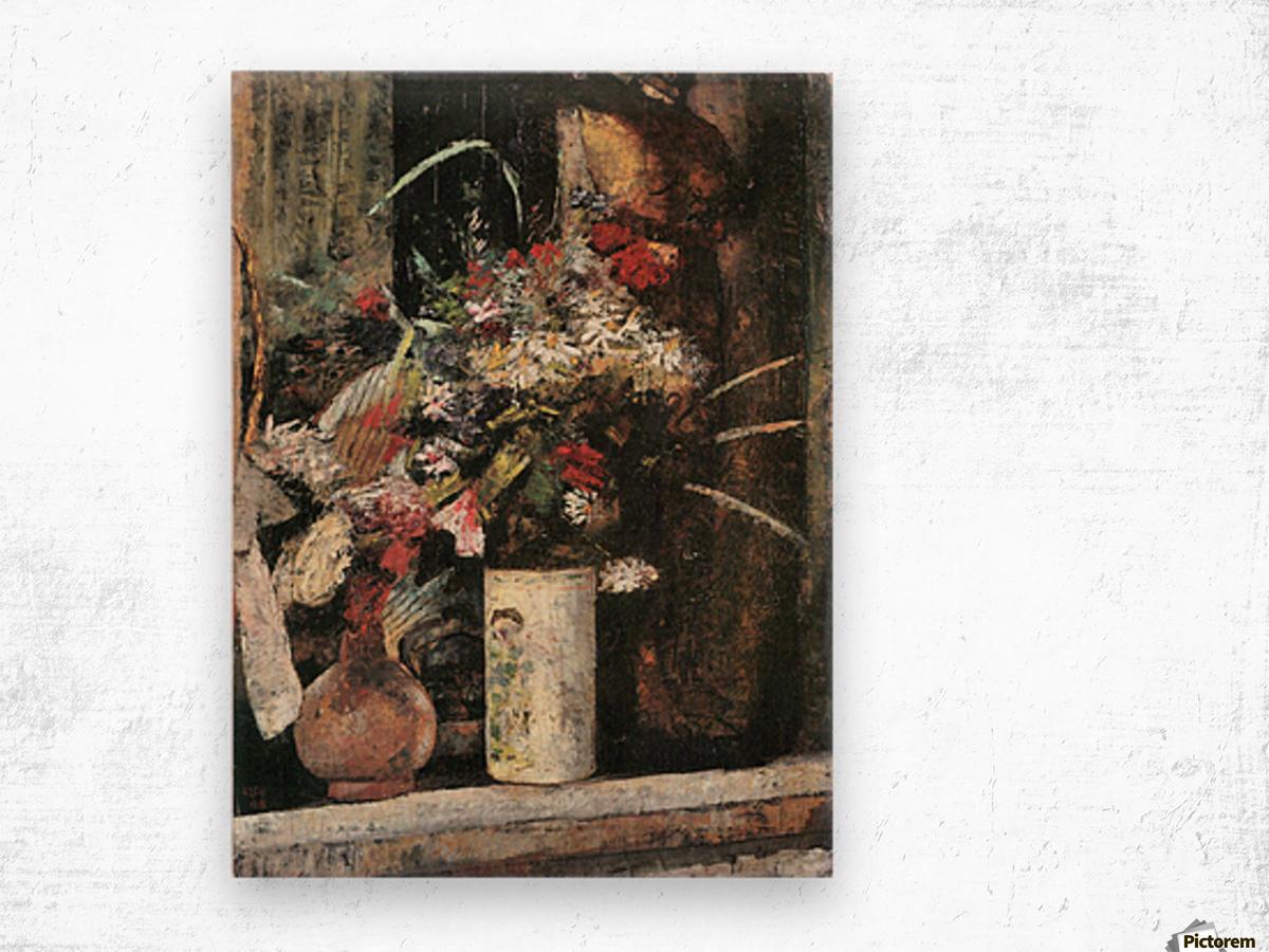 Blooms by Lesser Ury Wood print
