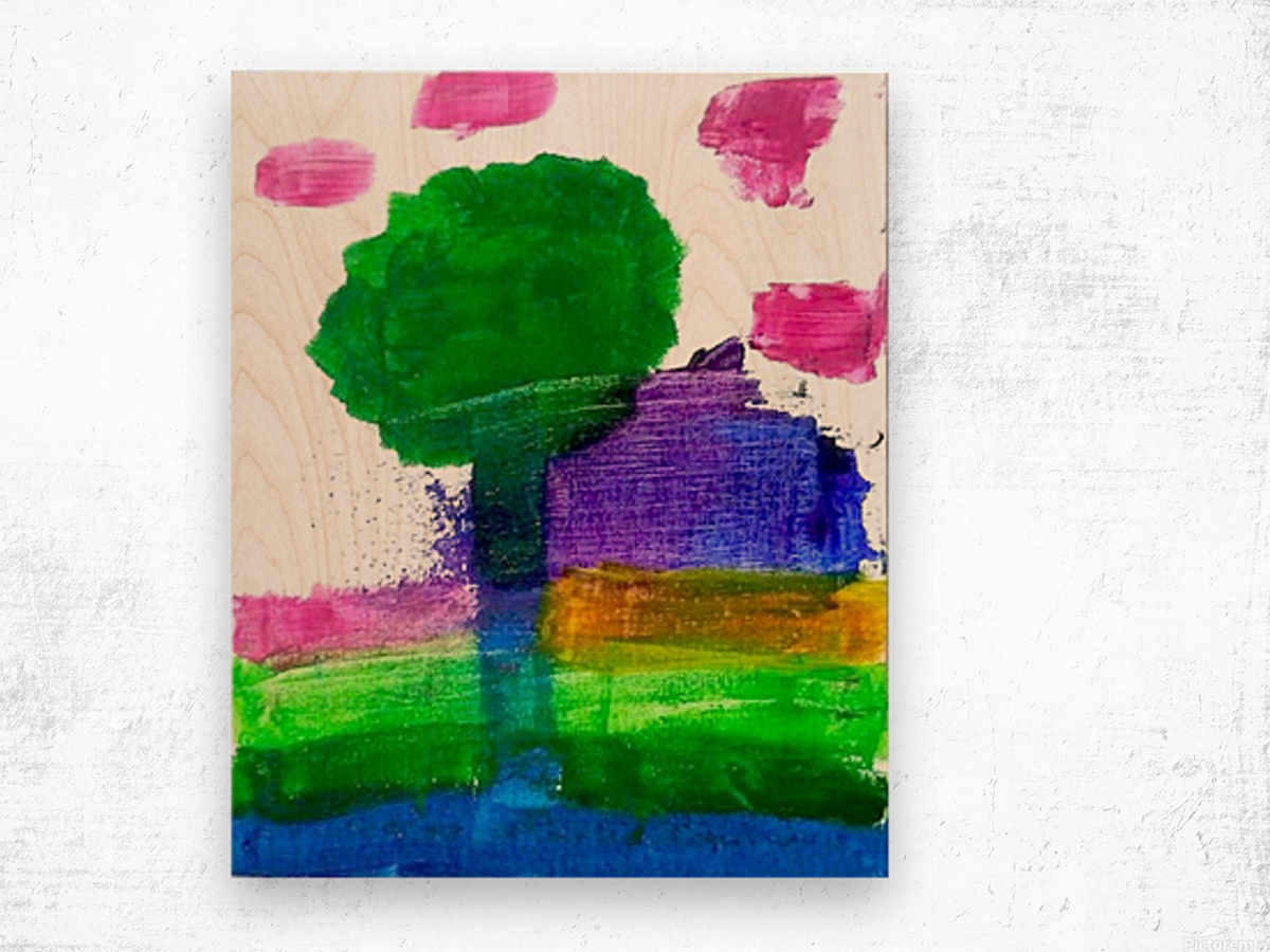 Myona tree Wood print