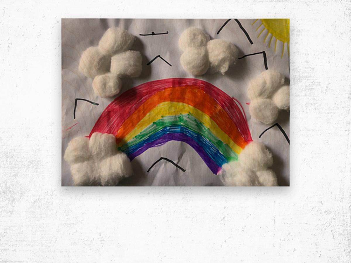 Nola rainbow Wood print