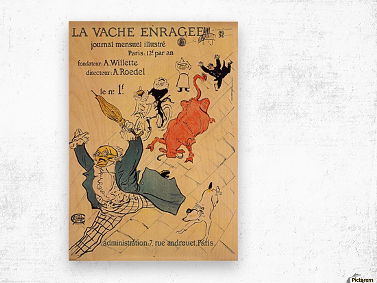 La vache enragee by Toulouse-Lautrec Wood print