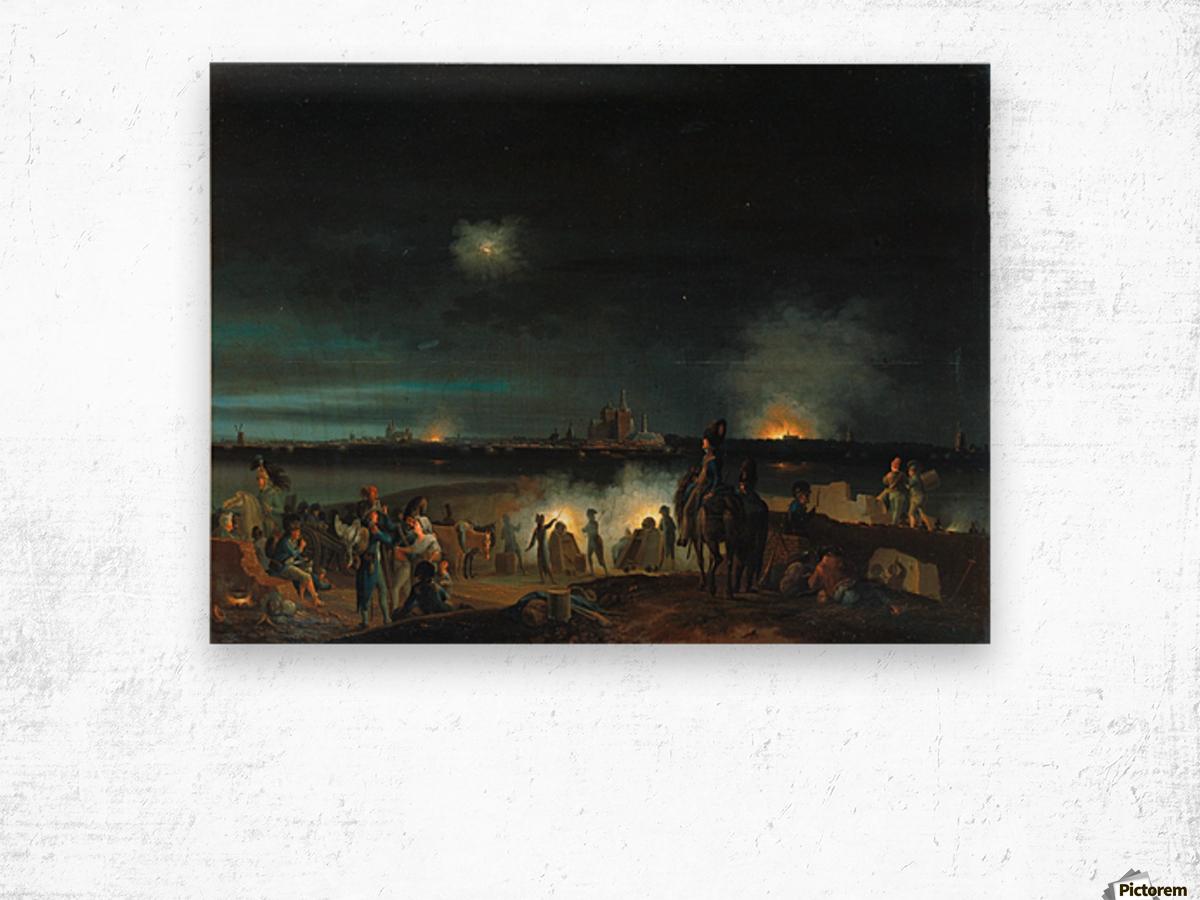 De beschieting van's Hertogenbosch door de Fransen tijdens het beleg van 1794 Wood print