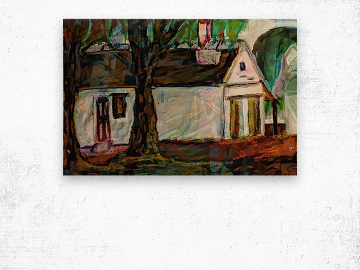 The Neighbors Wood print