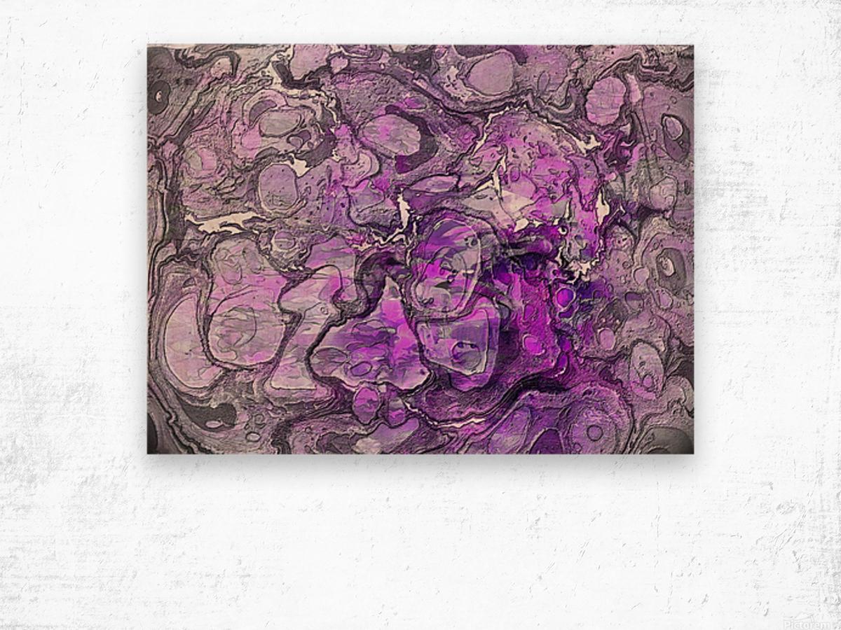 Purple Marble Wood print