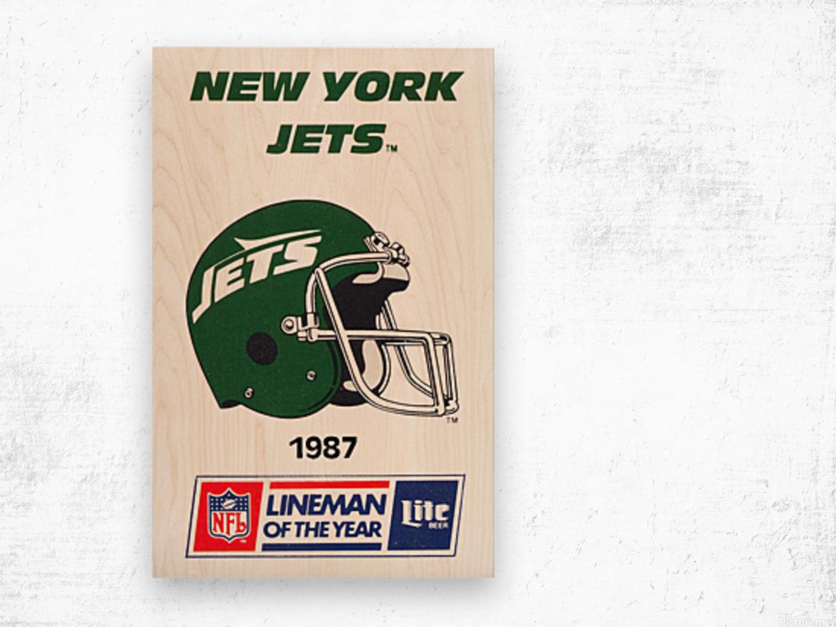 1987 new york jets vintage nfl poster Wood print