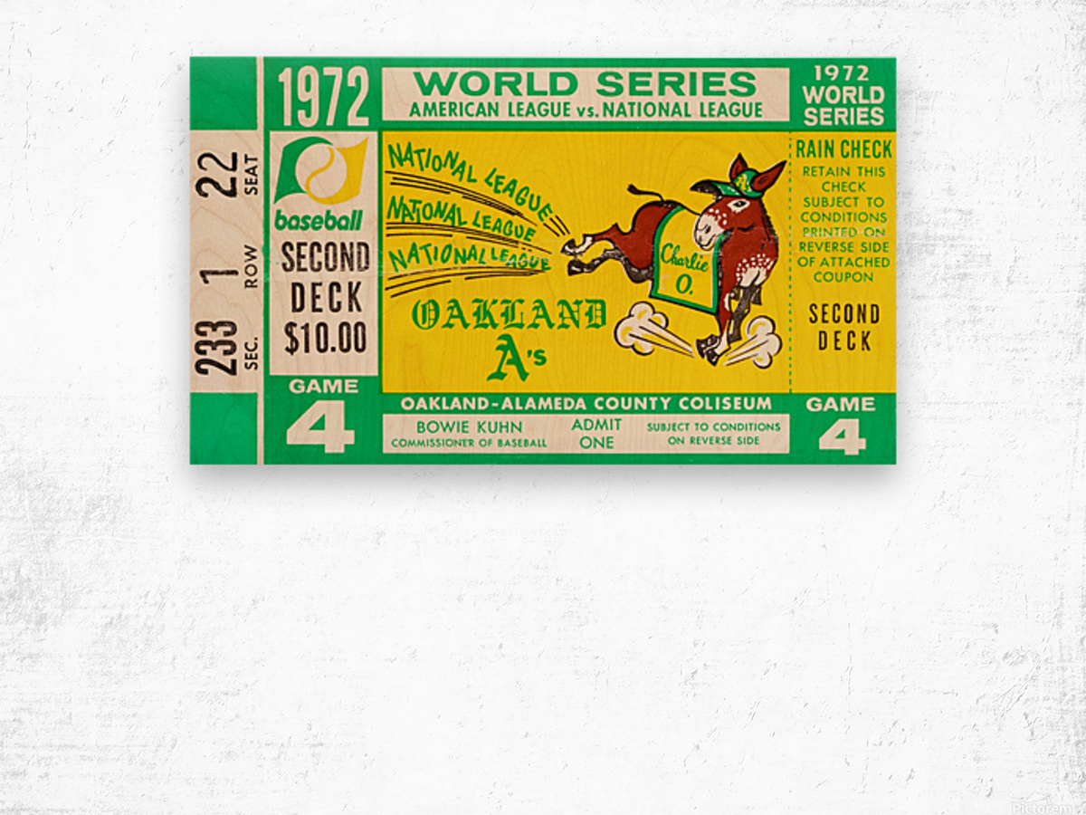 1972 world series oakland athletics Wood print