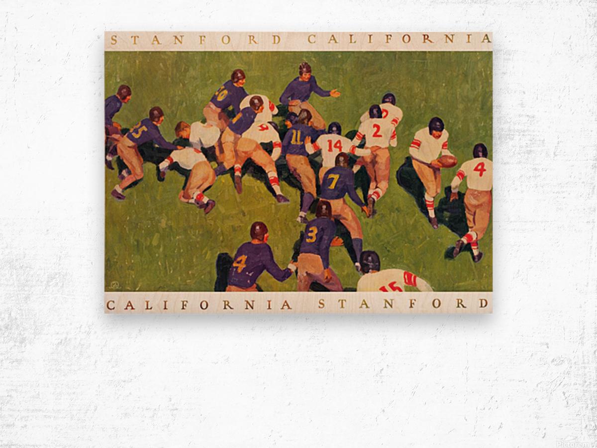 1927 cal stanford big game art vintage college football Wood print