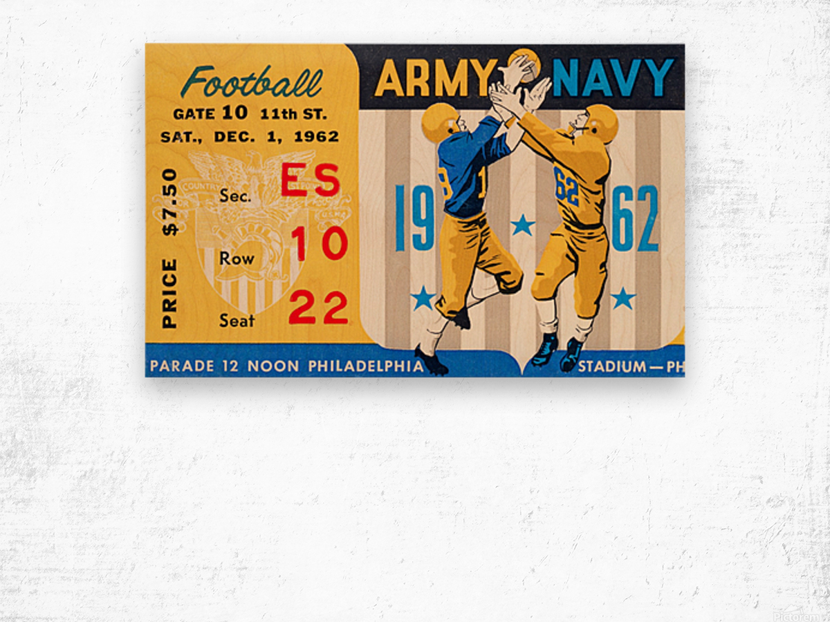 1962_Vintage College Football_Army vs. Navy_Municipal Stadium_ Wood print
