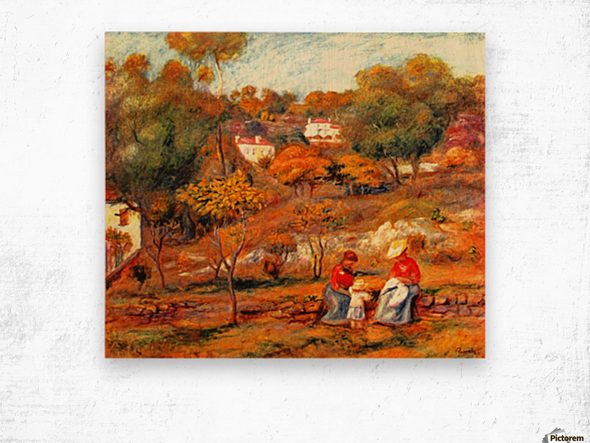 Landscape with Cagnes Wood print