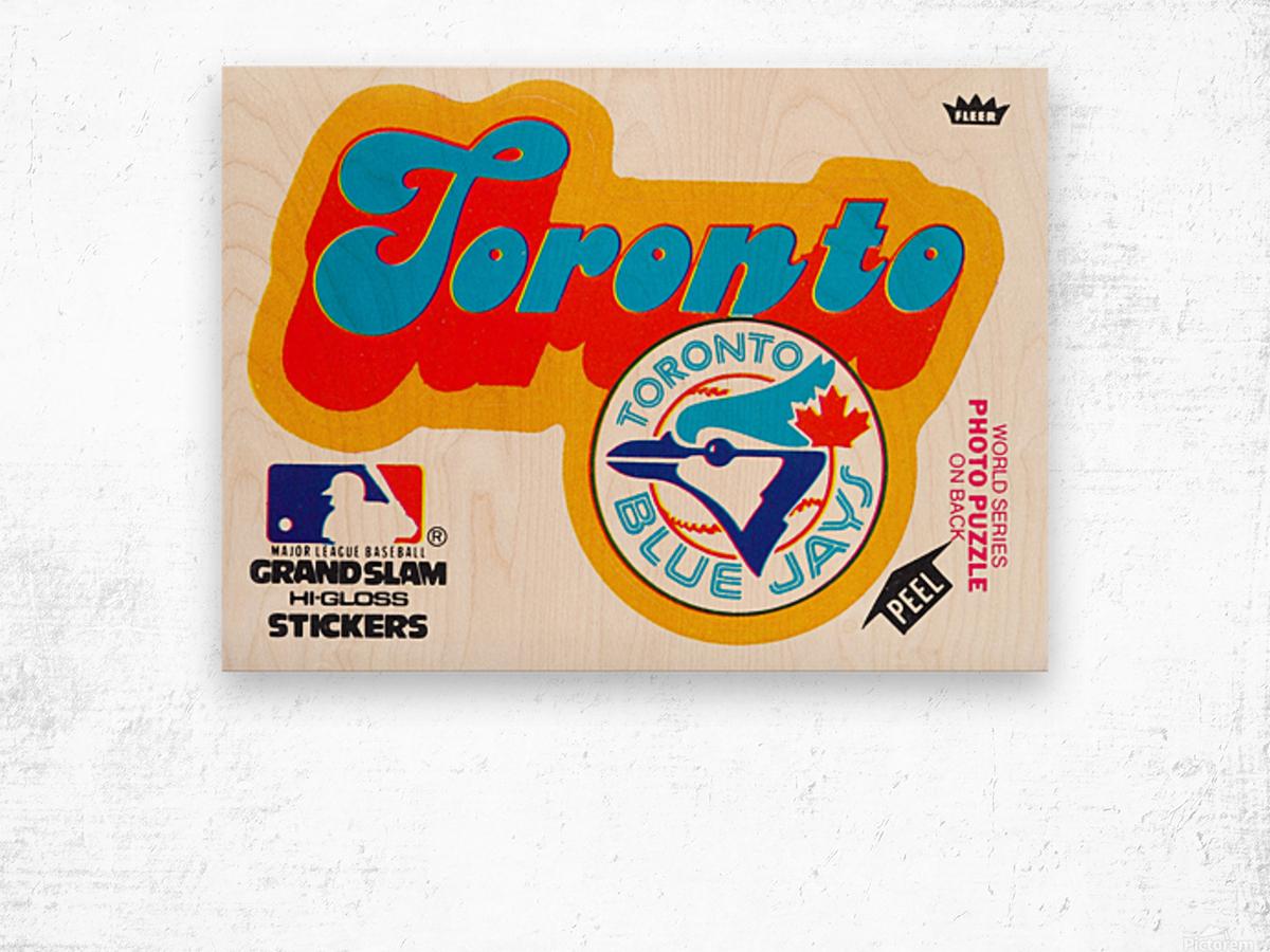 1978 toronto blue jays fleer decal baseball art reproduction poster Wood print