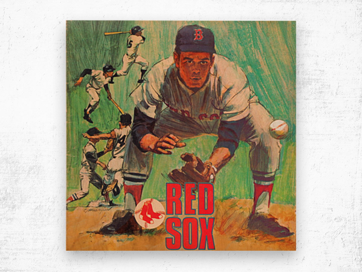 vintage boston red sox best metal sports signs for the garage Wood print