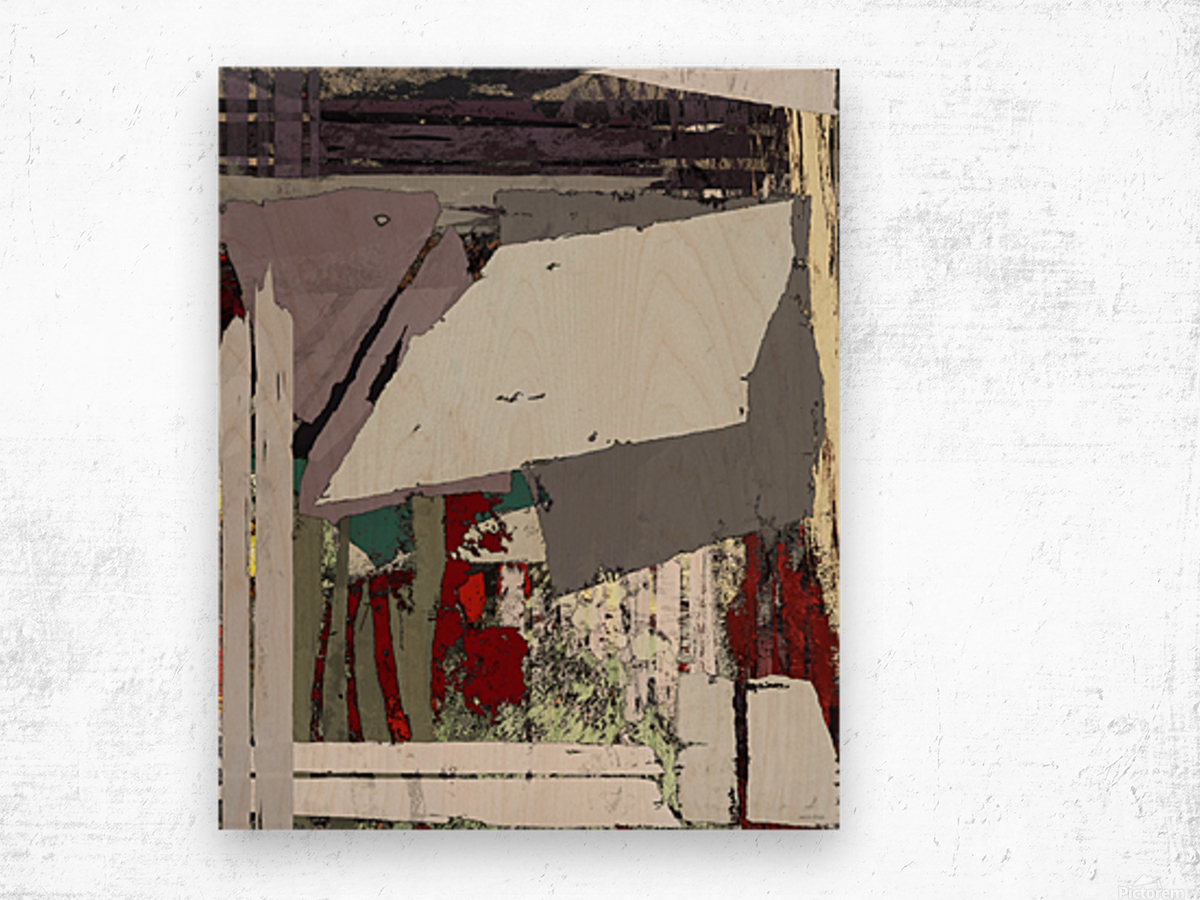 The grey barrier Wood print