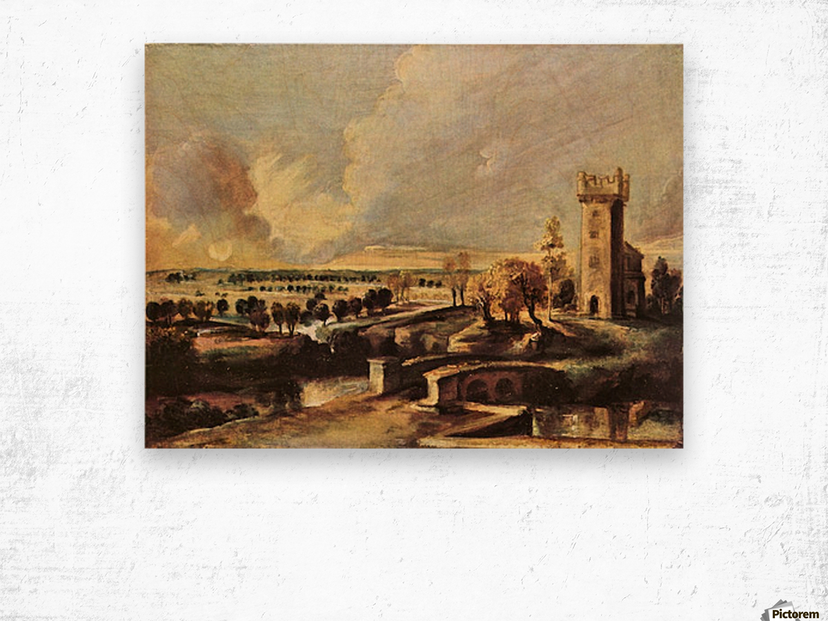Landscape with the tower of the castle Steen by Rubens Wood print