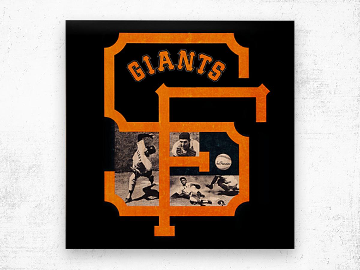 Vintage San Francisco Giants Acrylic Wall Art Sign Wood print