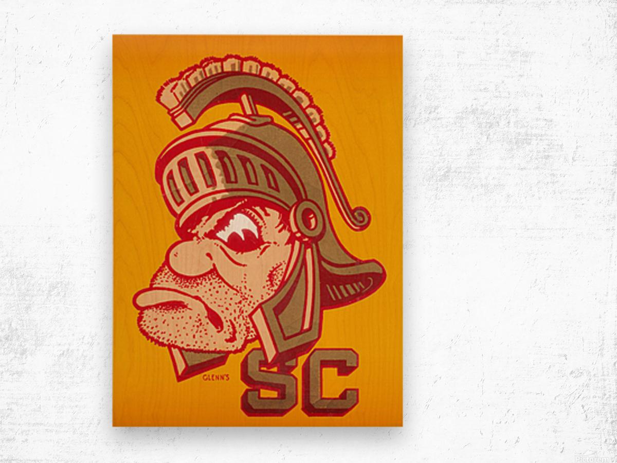 Vintage Fifties SC Trojan Art  Wood print