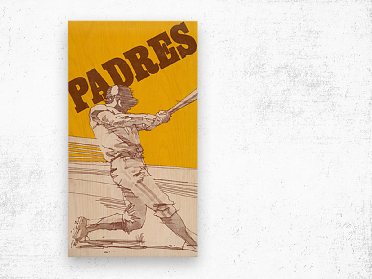 1974 san diego padres art reproduction Wood print