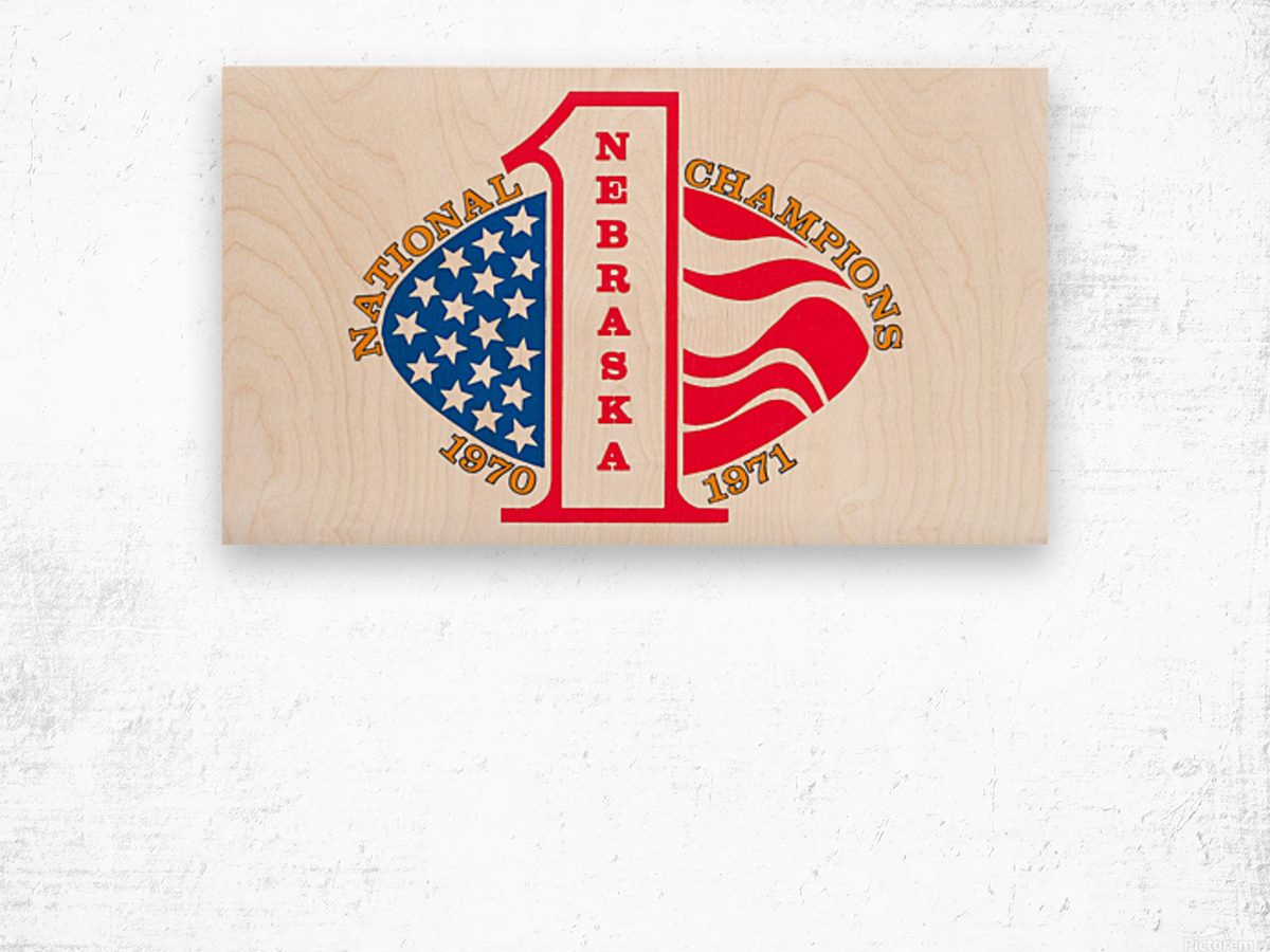 1971 nebraska cornhuskers football national champions poster Wood print
