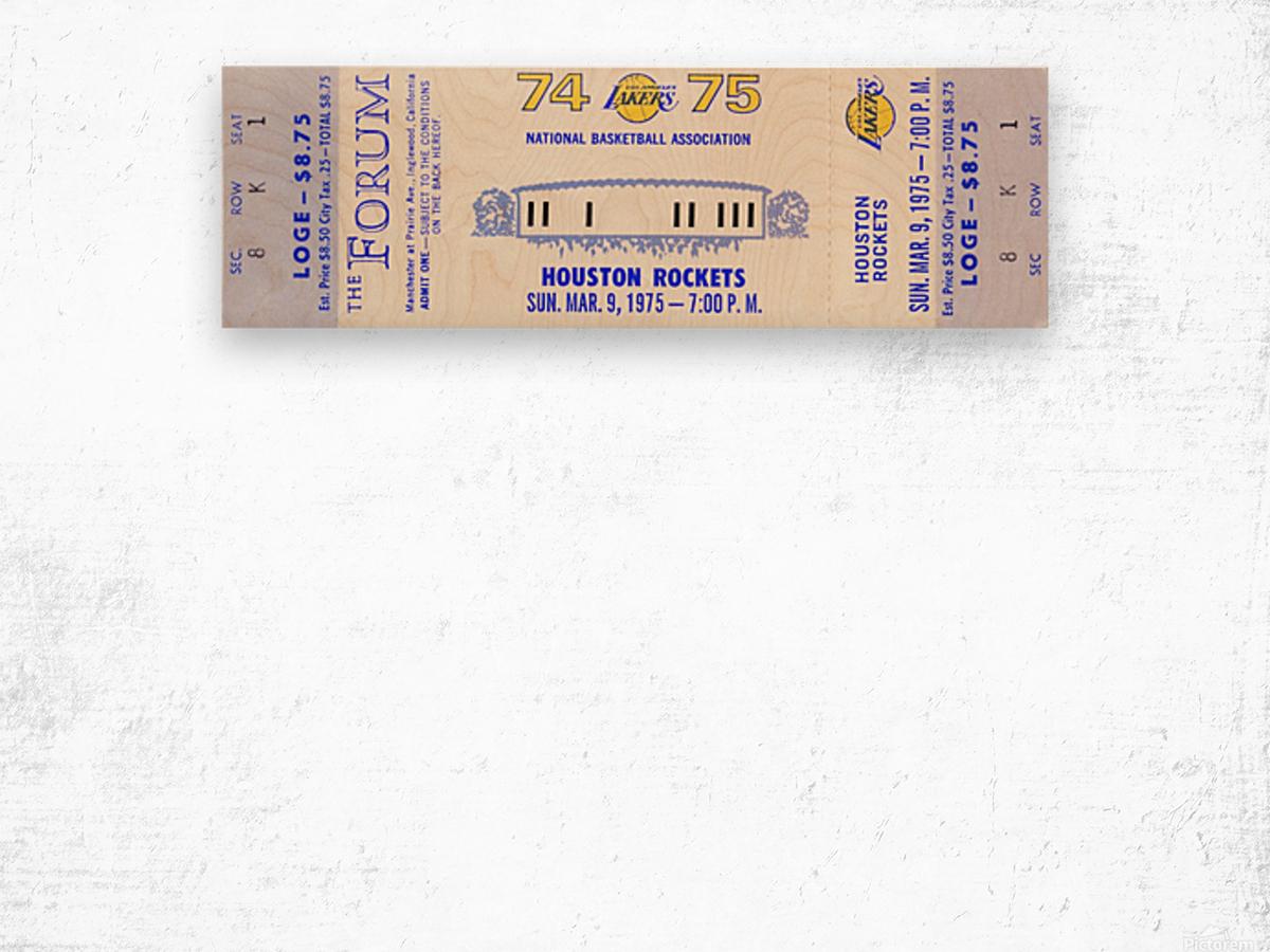 1974 Los Angeles Lakers Wood print