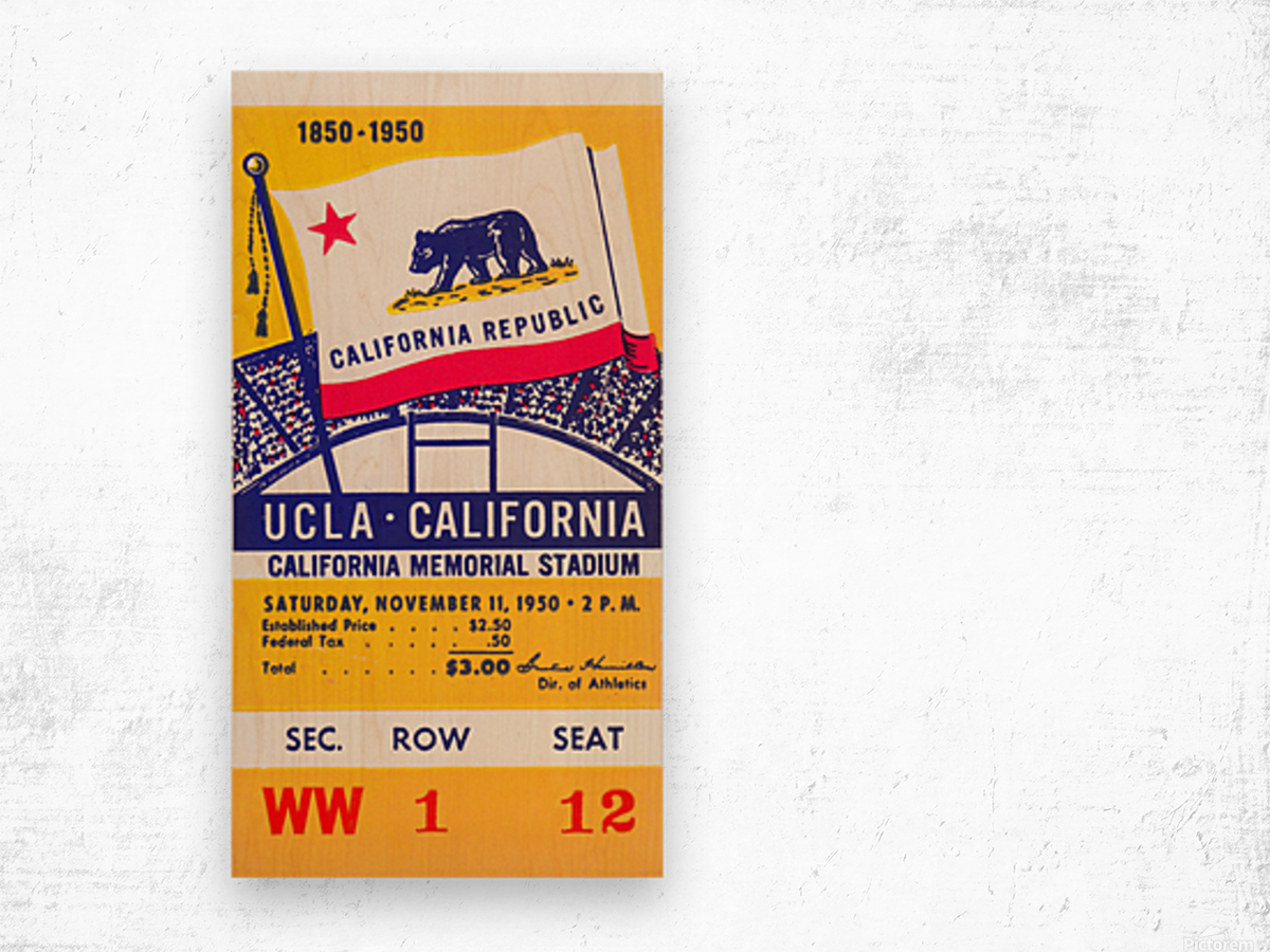 1950_College_Football_California vs. UCLA_California Memorial Stadium Wood print
