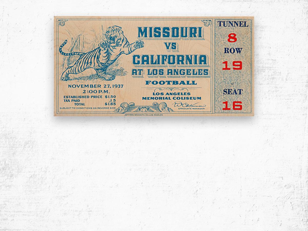 1937_College_Football_California vs. Missouri_Los Angeles Coliseum Wood print