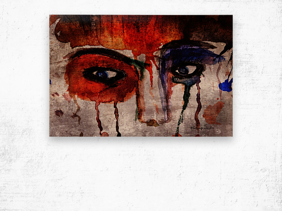 Life through her eyes Wood print