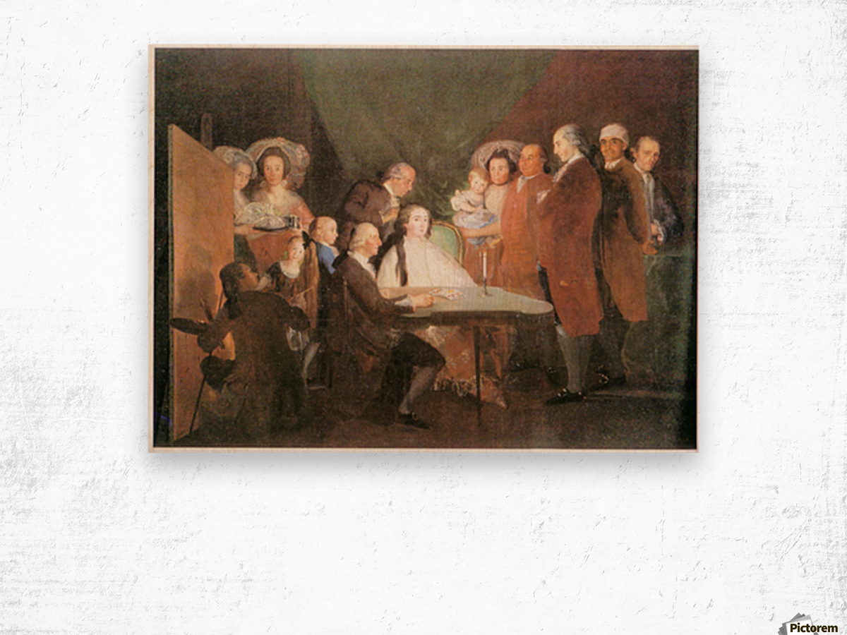 La_famille_de_l_infant_Don_Louis_1783 by Goya Wood print