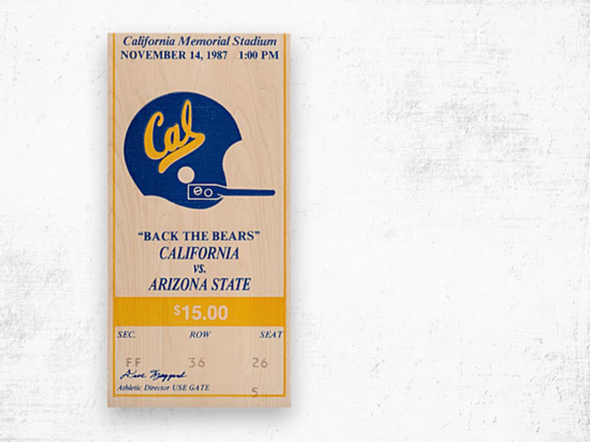 1987 Cal Bears vs. Arizona State Wood print