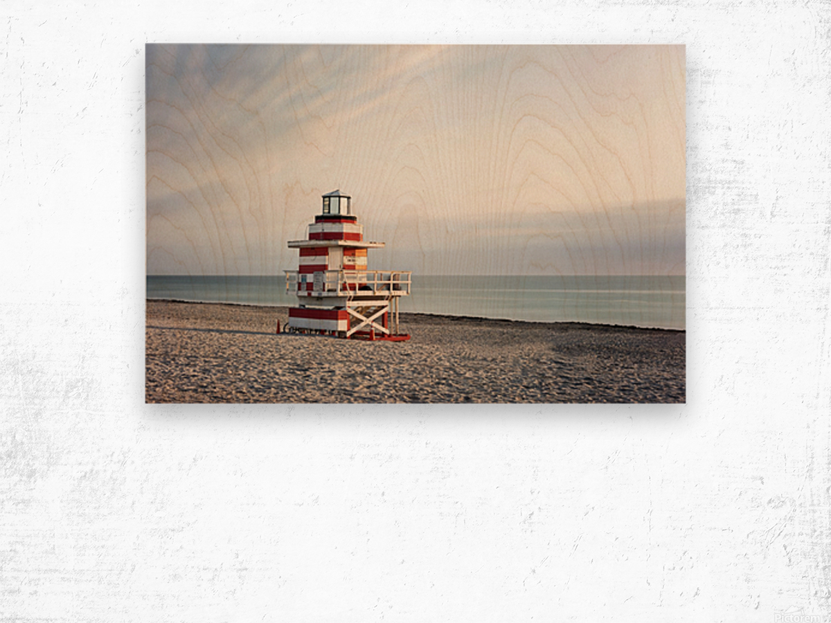 Miami Beach 029 Wood print