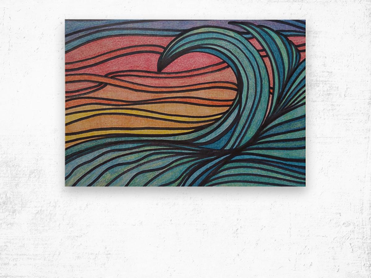 Twilight Wave  Wood print