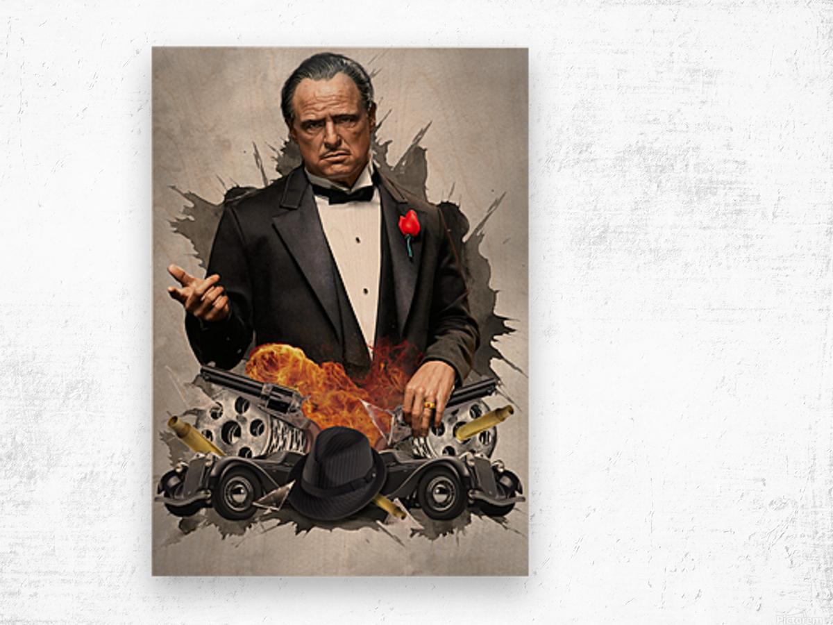 Vito Corleone Wood print