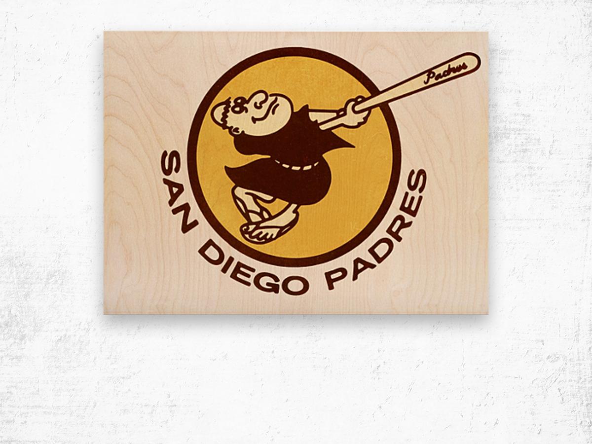 Retro San Diego Padres Art Wood print