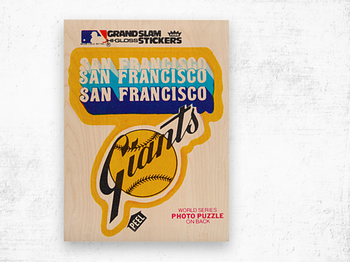 1979 fleer hi gloss san francisco giants sticker poster Wood print