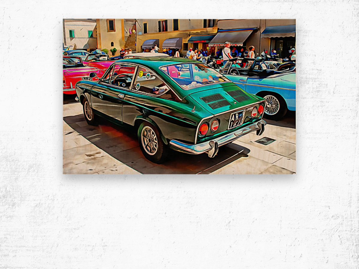 Fiat 850 Sport Coupe Wood print