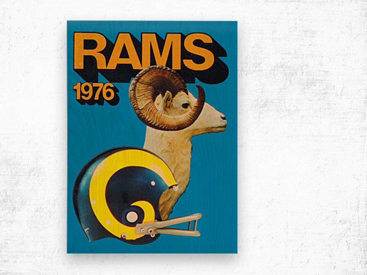 1976 rams vintage nfl poster Wood print