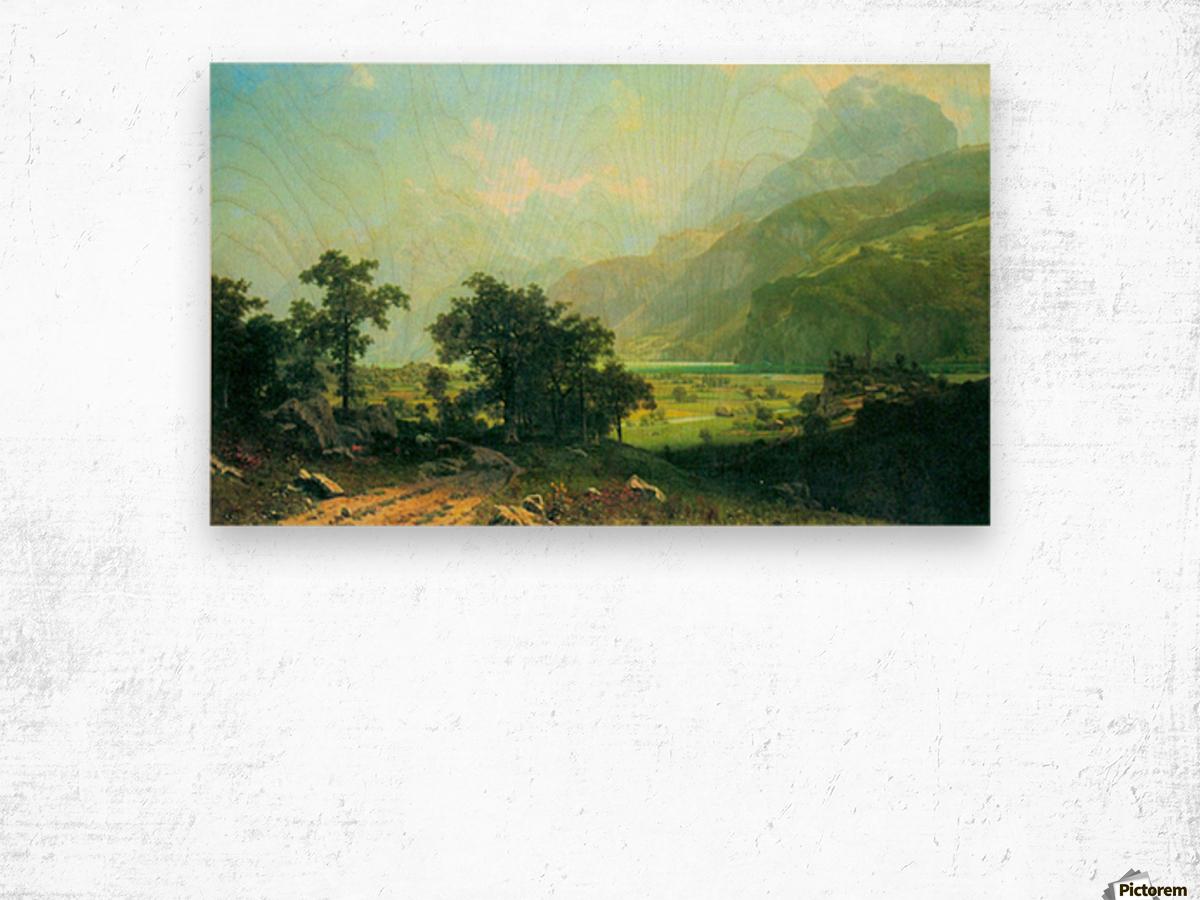Lucerne Switzerland by Bierstadt Wood print