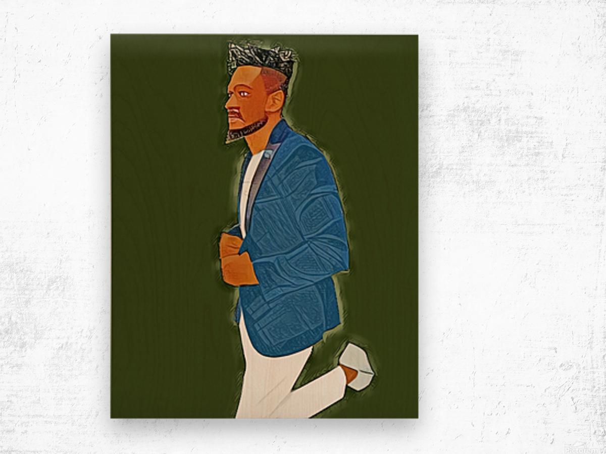 Rapper Wood print