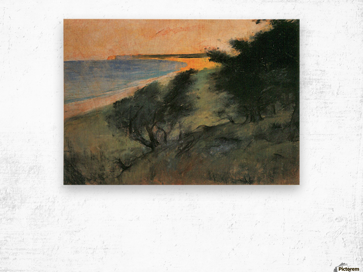 Coast of Rugen by Lesser Ury Wood print