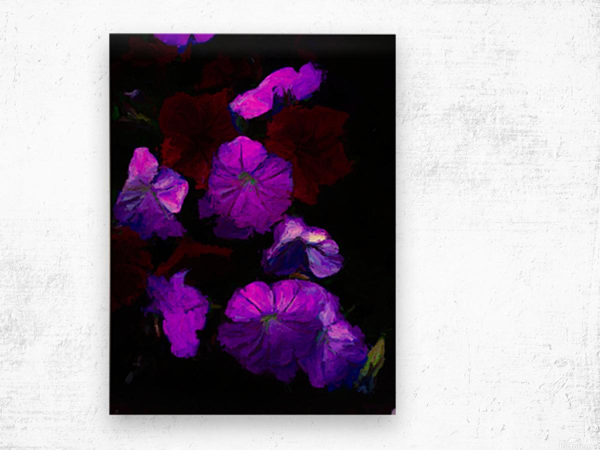 Evening Flowers Wood print