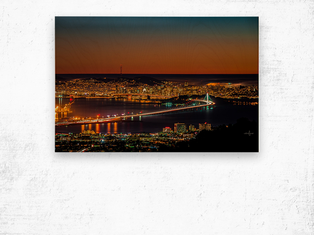 City to City - Berkeley to San Francisco Wood print