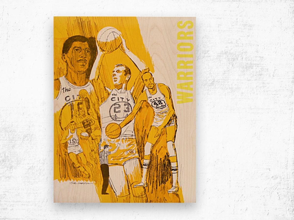 1969 San Francisco Warriors  Wood print