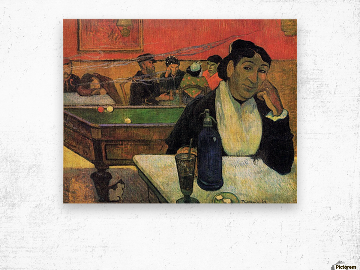 Madame Ginoux in Cafe by Gauguin Wood print