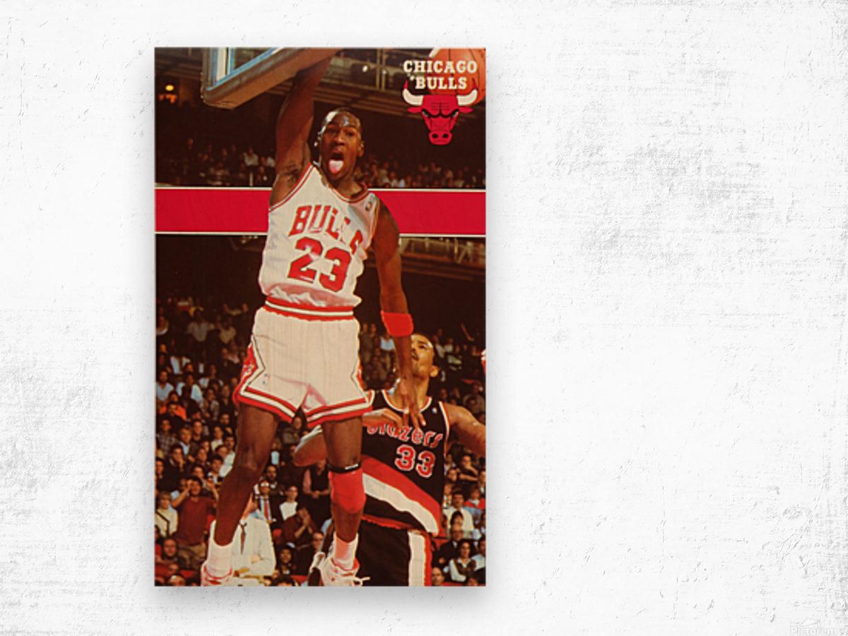 1987 michael jordan chicago stadium poster Wood print