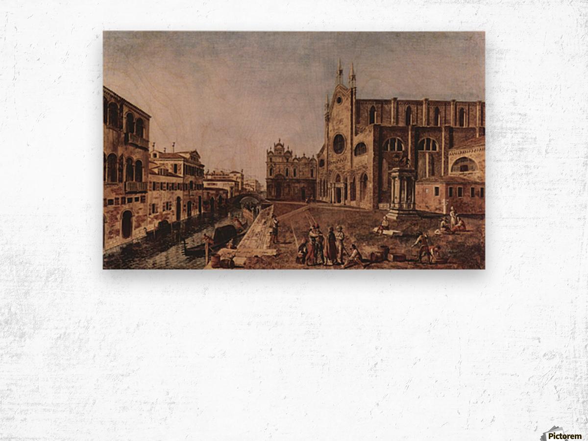 Campo santi Giovanni e Paolo, Venice Wood print