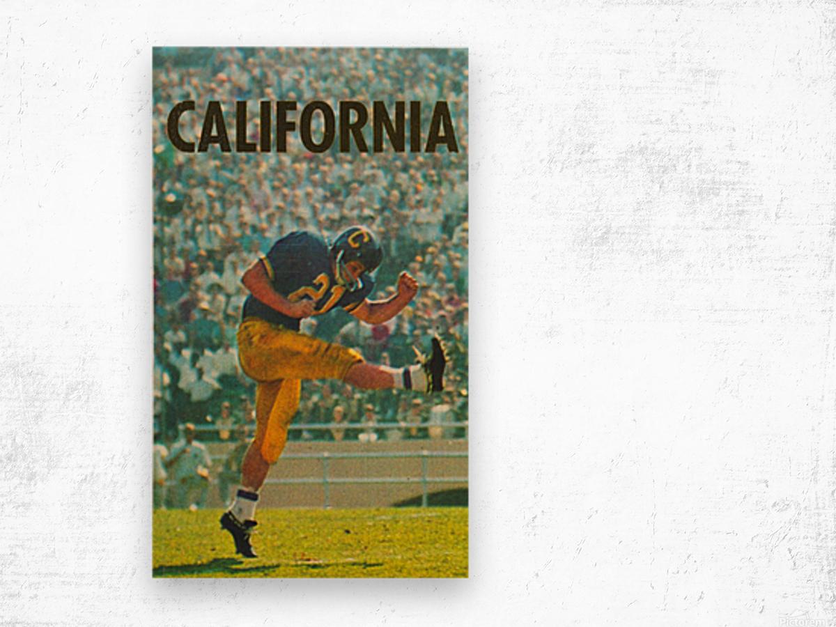 vintage california football art Wood print