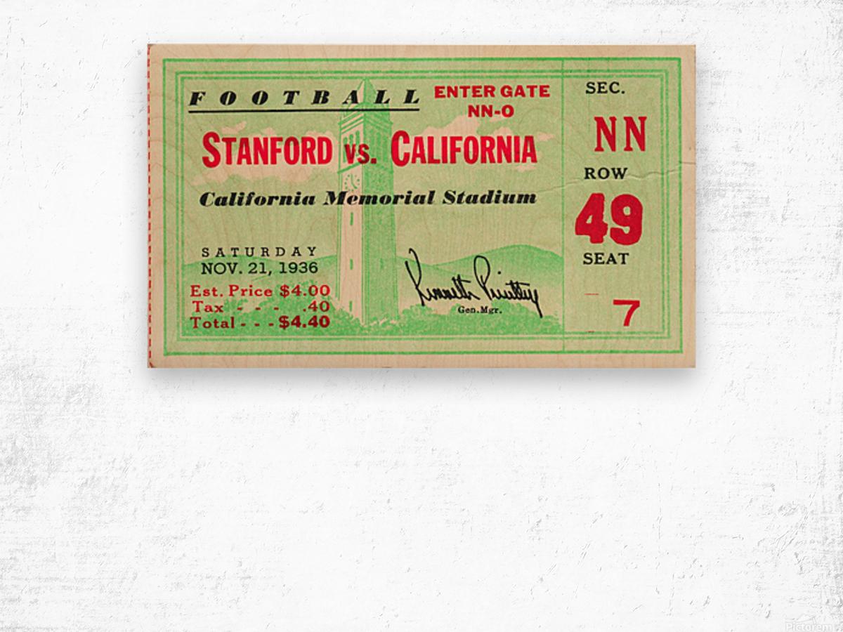 1936 Cal vs. Stanford Wood print